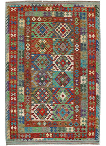 Multi Colored Kilim 6' 7 x 9' 10 - No. 64501