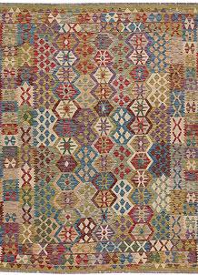 Multi Colored Kilim 6' 6 x 8' 1 - No. 64502