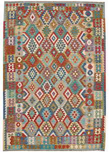 Multi Colored Kilim 6' 11 x 9' 9 - No. 64504