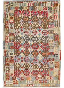 Multi Colored Kilim 5' 11 x 9' - No. 64506