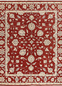 Dark Red Ziegler 6' 6 x 7' 11 - No. 64596