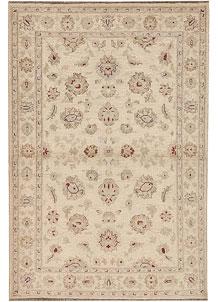 Antique White Oushak 4' x 6' - No. 64649