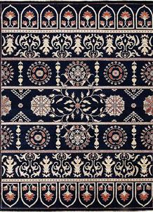 Dark Blue Ziegler 8' 11 x 11' 10 - No. 64909