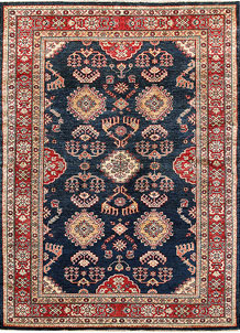 Dark Blue Kazak 5' 1 x 6' 11 - No. 64947