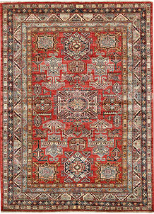 Firebrick Kazak 5' x 6' 9 - No. 64957