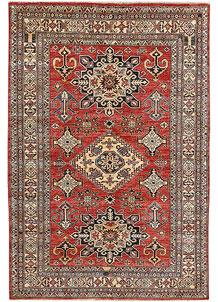 Firebrick Kazak 4' 10 x 7' 2 - No. 64958
