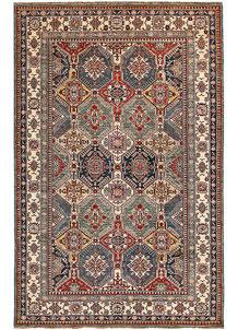 Multi Colored Kazak 5' 9 x 9' 1 - No. 65000