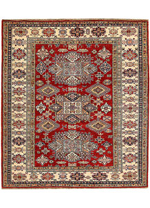 Firebrick Kazak 5' 10 x 6' 7 - No. 65006
