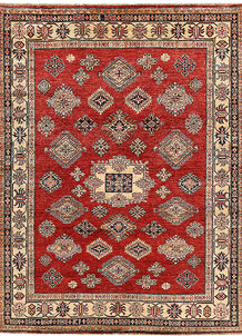 Red Kazak 5' 10 x 7' 7 - No. 65021