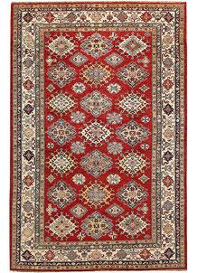 Firebrick Kazak 6' 4 x 9' 11 - No. 65029
