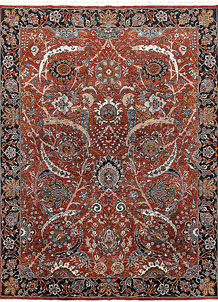 Orange Red Ziegler 9' x 11' 10 - No. 65074