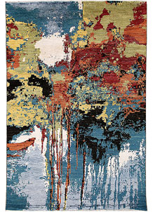 Multi Colored Abstract 6' 1 x 9' 1 - No. 65097