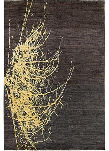 Saddle Brown Abstract 6' 3 x 9' 5 - No. 65112