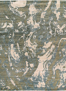 Olive Abstract 8' 1 x 9' 10 - No. 65132