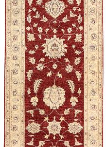 Dark Red Oushak 3' x 9' 6 - No. 65259