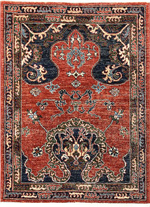 Orange Red Oushak 3' x 3' 11 - No. 65605
