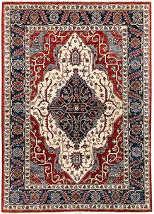 Firebrick Oushak 4' 1 x 5' 9 - No. 65630