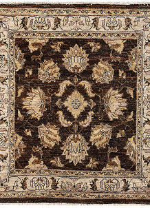 Saddle Brown Oushak 3' 1 x 3' 3 - No. 65676