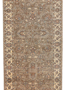 Tan Oushak 3' 1 x 12' 2 - No. 65692