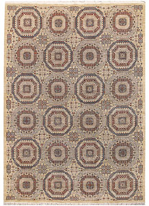 Blanched Almond Ikat 8' 6 x 11' 6 - No. 65741