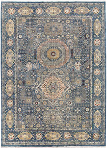 Light Slate Grey Mamluk 8' 5 x 11' 8 - No. 65787