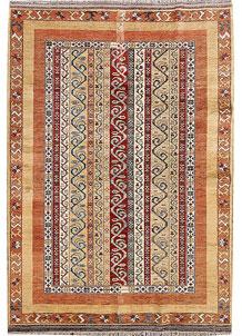 Multi Colored Shawl 5' 6 x 7' 9 - No. 65802