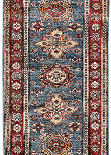Steel Blue Kazak 2' x 5' 7 - No. 65815