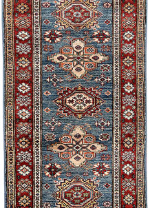 Steel Blue Kazak 2' x 5' 7 - No. 65816