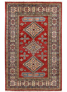 Red Kazak 3' 2 x 5' 1 - No. 65824