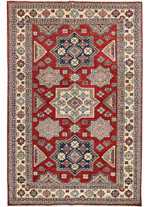 Red Kazak 5' 6 x 8' 4 - No. 65825