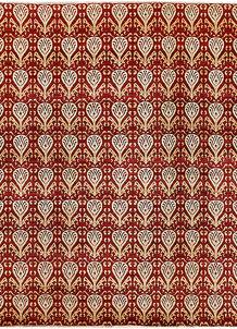 Firebrick Ikat 7' 9 x 9' 5 - No. 65828