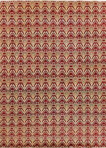 Firebrick Ikat 9' x 11' 7 - No. 65846