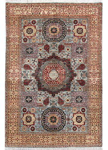 Light Blue Mamluk 4' x 6' - No. 66073