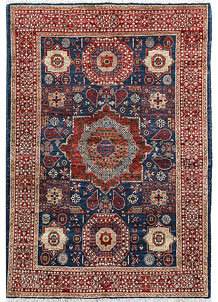 Steel Blue Mamluk 4' x 5' 10 - No. 66087