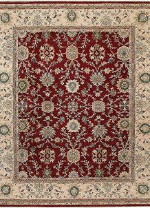 Dark Red Ziegler 7' 9 x 9' 7 - No. 66374