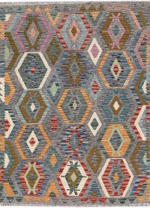 Multi Colored Kilim 4' 10 x 6' 5 - No. 66631