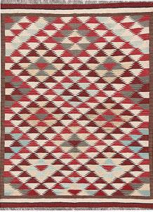 Multi Colored Kilim 4' 10 x 6' 6 - No. 66636