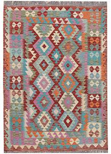 Multi Colored Kilim 4' 9 x 6' 7 - No. 66638