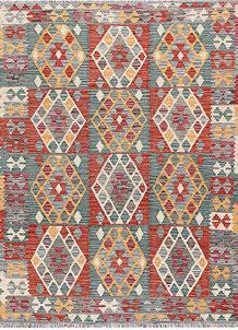 Multi Colored Kilim 5' 1 x 6' 6 - No. 66641