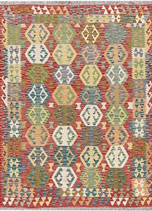 Multi Colored Kilim 4' 11 x 6' 4 - No. 66643