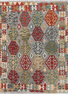 Multi Colored Kilim 5' 1 x 6' 6 - No. 66646