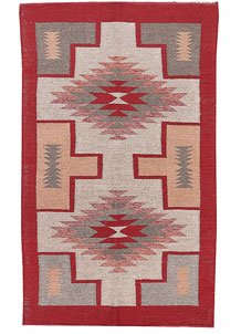 Multi Colored Kilim 3' 1 x 5' 1 - No. 66683