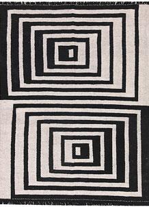 Multi Colored Kilim 4' 10 x 6' 4 - No. 66696