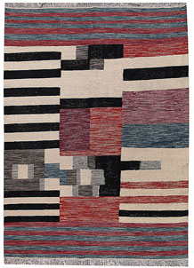 Multi Colored Kilim 4' 10 x 6' 5 - No. 66703