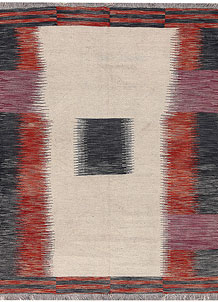 Multi Colored Kilim 4' 9 x 6' 6 - No. 66704