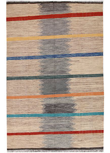 Multi Colored Kilim 6' 3 x 9' 8 - No. 66707