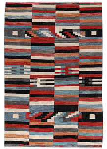 Multi Colored Kilim 6' 6 x 9' 7 - No. 66716
