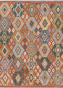 Multi Colored Kilim 5' 1 x 6' 4 - No. 66720