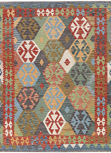 Multi Colored Kilim 5' 1 x 6' 5 - No. 66721