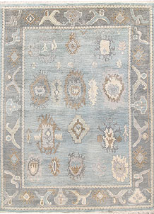 Light Blue Oushak 9' 2 x 12' - No. 66728